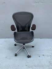 Herman Miller Chrome Aeron Chair Size B FullyLoaded Posturefit Lumbar Support