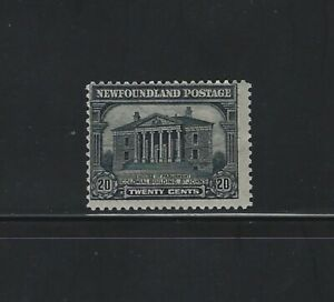 NEWFOUNDLAND - #157 - 20c COLONIAL BUILDING MINT STAMP MH