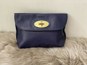 Mulberry leather aubergine cosmetic pouch/bag/handbag great condition
