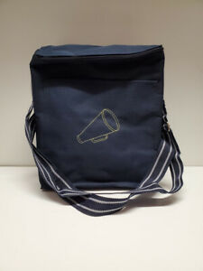 Thirty-One Spirit Collection thermal tote, Navy blue w/limeade megaphone, NWT