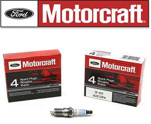 Set (8) Genuine FORD Spark Plugs Motorcraft SP493 OEM# AGSF32PM 4.6L 5.4L V8