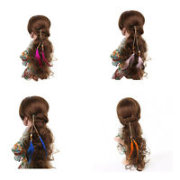 Clip In On Hair Extension With Feather Synthetic Strip Highlight for Women