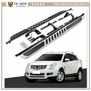 2Pcs Fits for Cadillac SRX 2010-2015 Door Side Step Running Board Nerf Bar