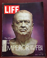 LIFE MAGAZINE APRIL 9, 1971 47-YEAR REIGN OF J. EDGAR HOOVER EMPEROR OF THE FBI