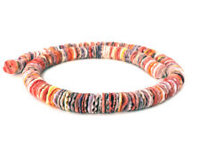 Multicolored Pectin Shell Heishi Beads (10 mm , 16 Inches Strand)