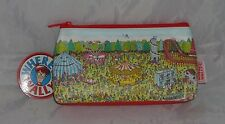 Where's Wally Pencil Case School stationary Fun Fair Pirates on other side NEW