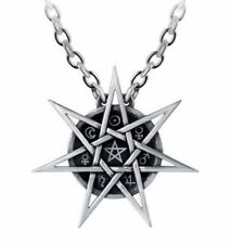 Alchemy England - Elven Star Necklace, Wiccan Symbols Pendant, Pagan, Septagram