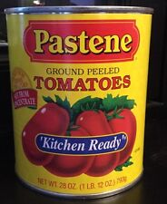 Lot of 6 PASTENE Kitchen Ready Ground Peeled Tomato Sauce 28 Oz Can Food Grocery