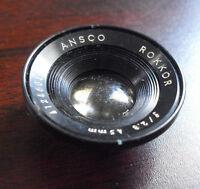 Vintage Ansco Rokkor f 2.8 45mm Camera Lens LOOK