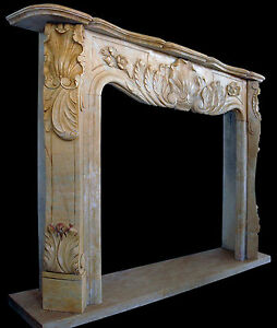 Fireplace IN Marble Yellow Style Classic Old Home Design