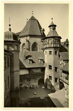Ansbach Bayern alte Ansichtskarte 1952 gelaufen Alter Hof am unteren Markt Turm