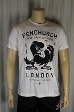 Fenchurch Para Hombre Blanco T camisa del tamaño medio (87)