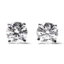 Diamant Ohrstecker 0,25 Karat - 585/14K Weißgold - Zertifikat
