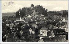 """Lindenfels """"die Perle"""" des Odenwald Hessen Postkarte 1965 gelaufen Teilansicht"""
