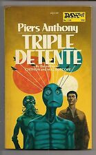 TRIPLE DETENTE ~ PIERS ANTHONY ~ DAW 118 1974 PBO COVER ART GAUGHAN