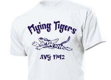 T-Shirt Flying Tigers AVG China 1942 Airforce Pilots USAAF USN USMC WK2 Gr S-XXL
