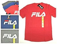 SALE! NEW Fila Unisex Graphic Logo Tee Crew Neck Short Sleeve T-Shirt VARIETY