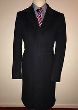 AQUASCUTUM LONDON LUXURY DESIGNER WINTER COAT WOOL CASHMERE BESPOKE: MEDIUM