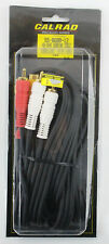 Calrad 12 Foot Gold Plated Video Audio Male to Male Double Cables NEW~!!