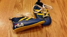 Fila Baby Boys Crib Shoes Size 0-6 Infants Extremely CUTE Blue Yellow Adorable