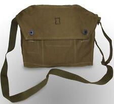 Military Satchel Shoulder Messenger Vintage Bag Army Fishing Canvas Webbing