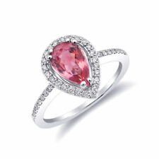 Natural Neon Tanzanian Spinel 1.12 carats set in 14K White Gold Ring