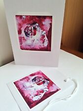 Skeletal/Fantasy Man Greeting Card & Gift Tag Set Printed from Original Painting