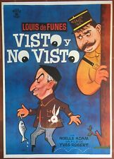 Affiche espagnole entoilée NI VU, ni CONNU Yves Robert LOUIS DE FUNES Pêche