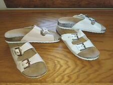 VIA ROSA LADIES SLIDE SANDAL SZ. 9- WHITE- GLITTER SOLES