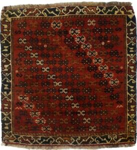 Tribal Style Square Rug Farmhouse 2X2 Handmade Gabbeh Oriental Home Decor Carpet