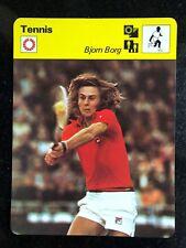 BJORN BORG 1977 Sportscaster Card #09-21 TENNIS