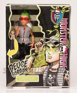 Monster High Puppe Deuce Gorgon  Augen Leuchten mit Puppenständer NEU
