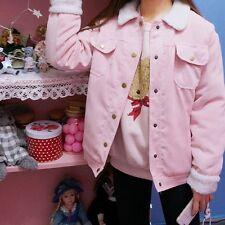 Japanese Winter Mori Girl Kawaii KHAKI Corduroy Cute Preppy Style Jacket Coat #