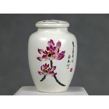 "Teedose Porzellan ""Lotuspracht"", chinesische Keramik mit Aromaverschluss, bunt"