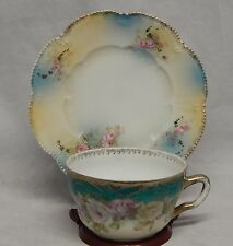 Three Crown China Germany Large Cup and Saucer Set