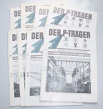 """Konvolut Zeitschriften """" Der P - Träger """" Brückenbau Architektur 1933 / 39 !"""
