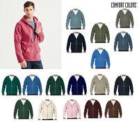 Comfort Colors Adult Full-Zip Hooded Sweatshirt (1568) - Plain Zipped Hoodie