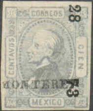 p200.MEXICO.1872-4.100c.MONTERREY.28-73.Sc#98.MNG.