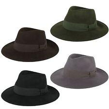100% Wool Fedora Hat Handmade in Italy