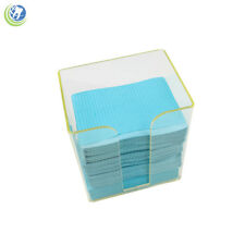 Well-Educated Dentist Lab Supplies Disposable Bib Towel Tissue Paper Dispenser Holder Case High Quality And Inexpensive Oral Hygiene