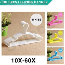 10-60PCS Coloured Children Kids Coat Hangers Child Baby Clothes Hanger