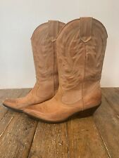 Womens Aldo Western Cowboy Rodeo Tan Leather Boots Size 9 40