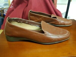 Light Brown Slip on Shoes by Footglove, Size UK 5