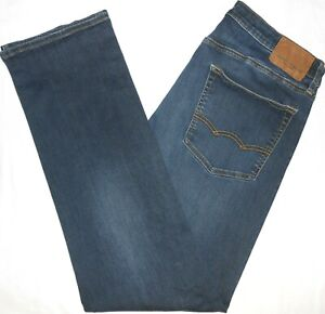 Mens 34x34 American Eagle Outfitters 'EXTREME FLEX' Original Straight Blue Jeans
