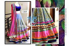 Indian Designer Bollywood Blue, Pink Lengha, Chanya Choli, Ghagra
