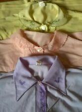 Vtg (3) Pair of 1950's Nylon Pajama Sets - Yellow.Pink.Lilac size 36