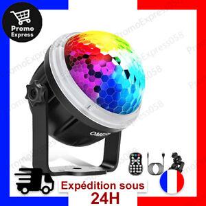 Disco Ball Boule Disco LED Lumière Soirée Fete Motif Etoile 10 Couleurs Rotatif
