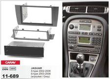 CARAV 11-689 2/1-DIN Car Radio Dash Kit JAGUAR X-type 02-08, S-type 03-08 w/poc
