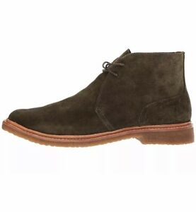 Polo Ralph Lauren Men's Karlyle US 8 D Deep Olive Suede Chukka Boots