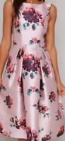 ChiChi London Chi Chi Brynn Dress Mink Flower Pattern Ladies UK Size 10 *25